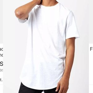 ☁️Pacsun Scallop Fit White t-shirt